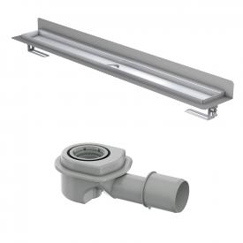 ACO ShowerDrain M shower channel set, with wall upstand horizontal outlet DN 50/40, 30 l/min