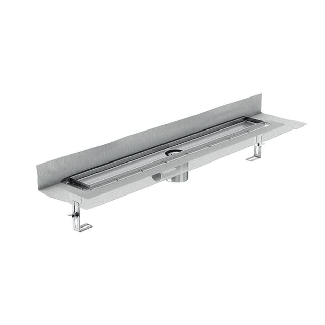 ACO ShowerDrain E+ shower channel with rear wall upstand, horizontal drain, DN 50 L: 90 cm