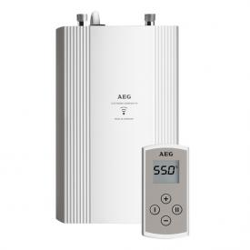 AEG DDLE compact instantaneous water heater, electronically controlled, 20 - 60°C 11/13.5 kW with remote control