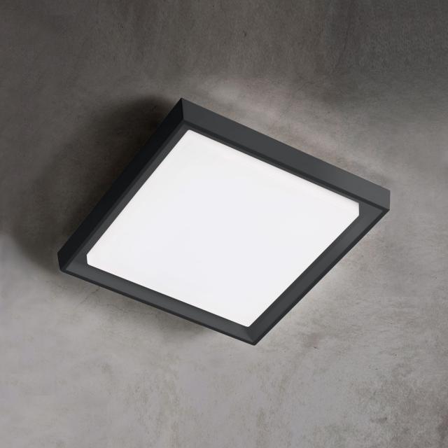AI LATI Alu LED ceiling light/wall light, square