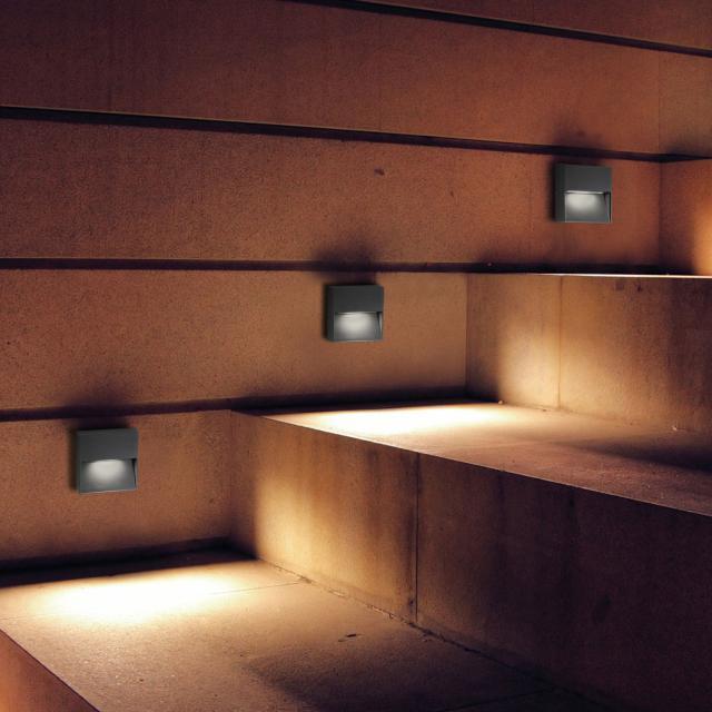 AI LATI Bottom LED wall light, square