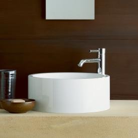 Alape AB.K countertop washbasin white, with easy-care coating, without overflow