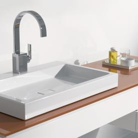 Alape AB.RE countertop washbasin white, with easy-care coating, with tap hole