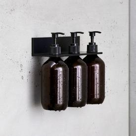 Alape Assist shower shelf with 3 soap dispensers matt black