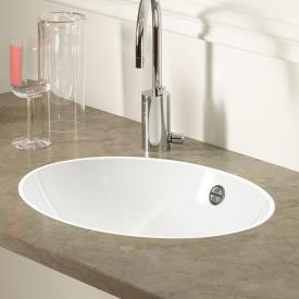 Alape FB.O built-in washbasin, flush-mounted installation white, with easy-care surface