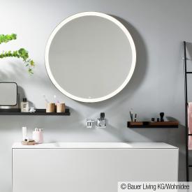 Alape SP.FR mirror with LED lighting matt black