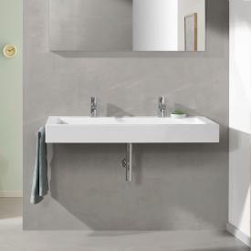 Alape WT.TW washbasin, without overflow white, with 2 tap holes, with overflow