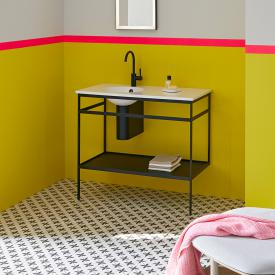 Alape Work.Frame washbasin with steel frame with 1 tap hole