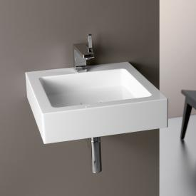 Alape WT.QS washbasin white, with 1 tap hole