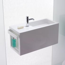 Alape Xplore.S WP wash place white, basin right, with 1 tap hole