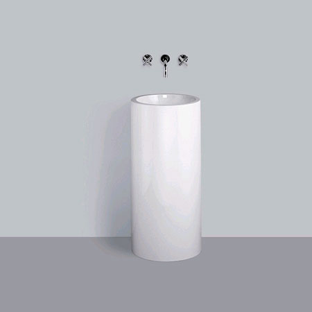 Alape WT.RX washbasin with wall console, round without tap hole