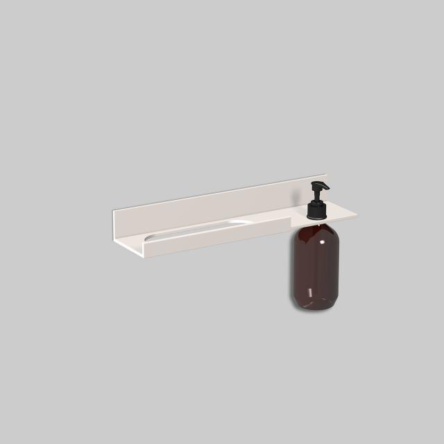 Alape Assist towel rail with lotion dispenser matt white