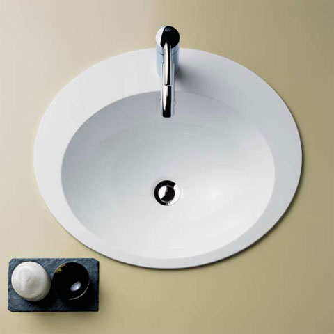 Alape EB.O drop-in washbasin with overflow