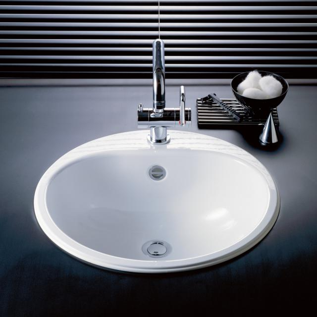 Alape EW drop-in washbasin white, with overflow