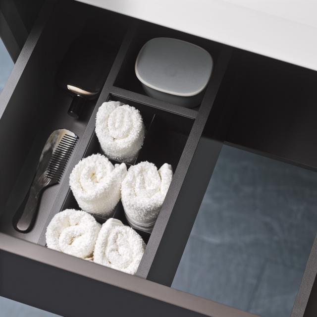 Alape FU.H358.1 drawer divider for internal drawer black