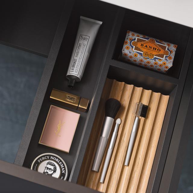 Alape FU.H358.2 drawer divider for internal drawer black