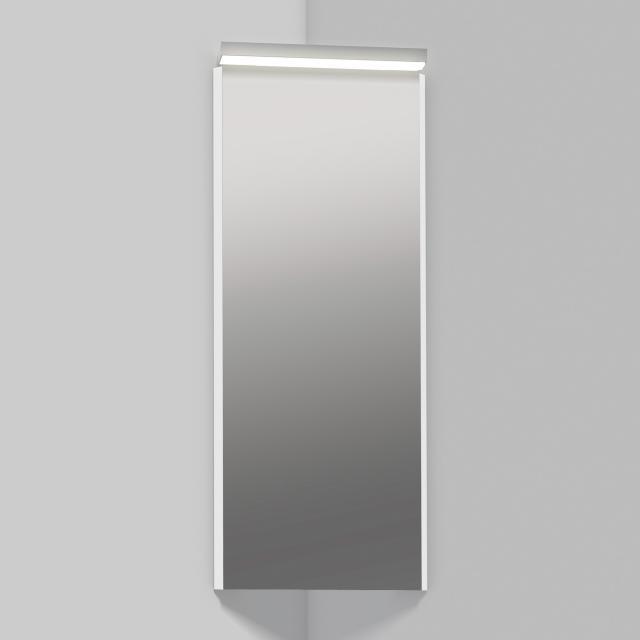 Alape SP corner mirror with LED lighting