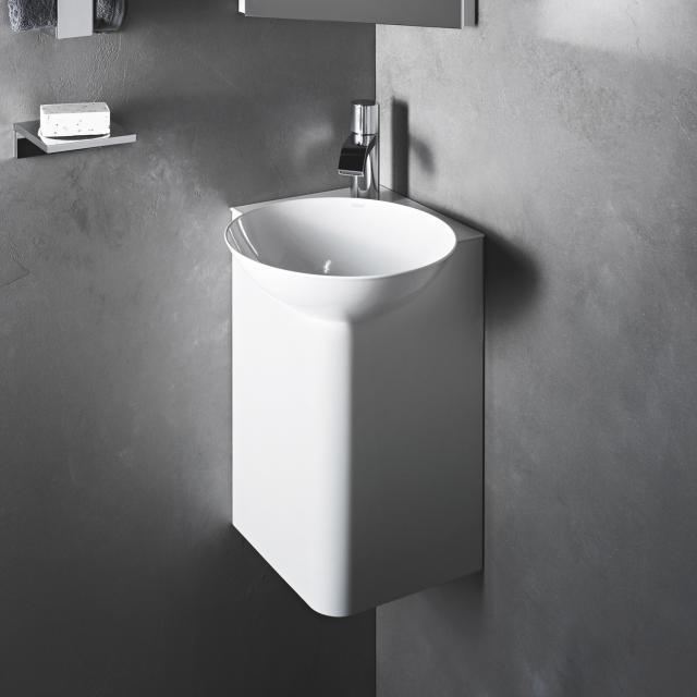 Alape WP.Insert5 corner wash place white shelf
