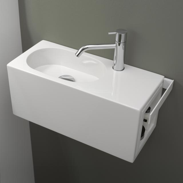 Alape WP Fusion.S wash place white, with 1 tap hole