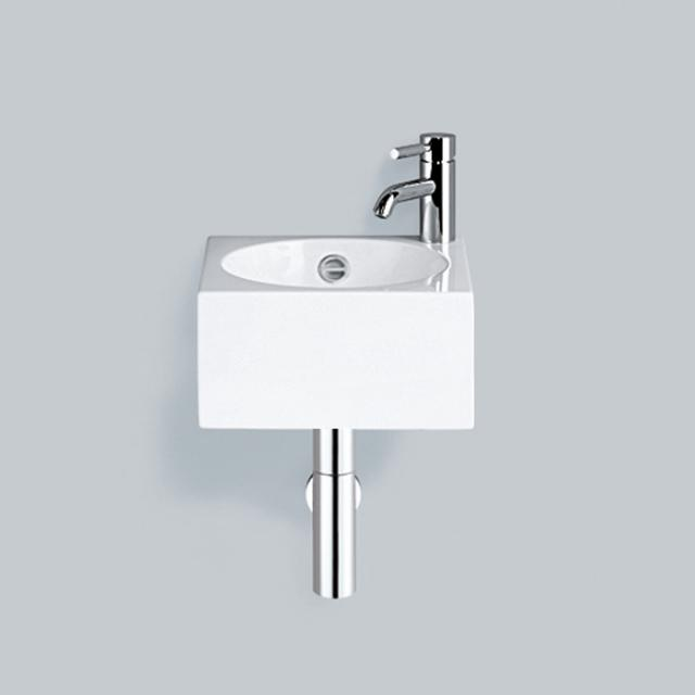 Alape WT.IC325/H washbasin white, with 1 tap hole, with overflow