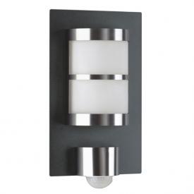 Albert bi-colour wall light with motion detector