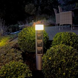 Albert LED bollard light with sockets