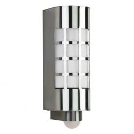 Albert stainless steel wall light with motion detector