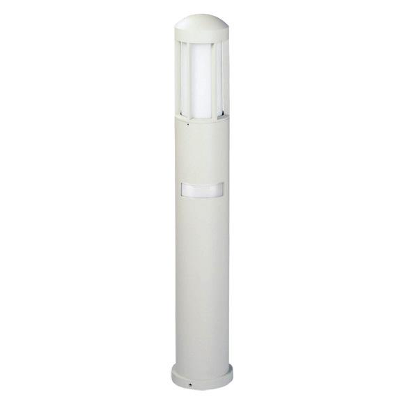 albert cast aluminium bollard light with motion detector
