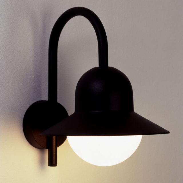 albert cast aluminium wall light with motion detector