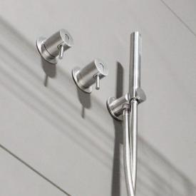 antoniolupi AYATI concealed, two single handle shower mixer satin stainless steel