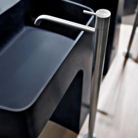 antoniolupi AYATI freestanding, single handle basin mixer satin stainless steel