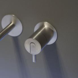 antoniolupi AYATI concealed, single handle basin mixer satin stainless steel