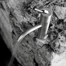 antoniolupi AYATI single handle basin mixer satin stainless steel