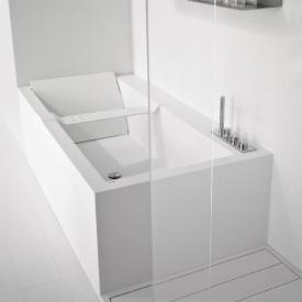 antoniolupi BIBLIO rectangular bath with fittings platform and panelling 2 sided
