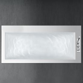 antoniolupi BIBLIO rectangular bath with sideways fittings platform right version