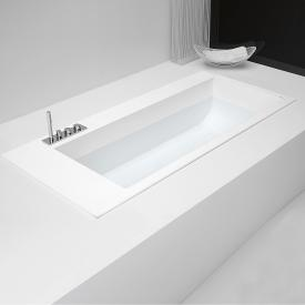 antoniolupi BIBLIO rectangular built-in bath with sideways fitting platform left version