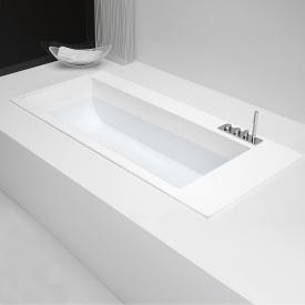 antoniolupi BIBLIO rectangular built-in bath with sideways fitting platform right version
