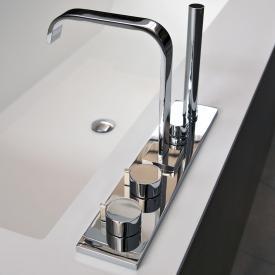 antoniolupi BIKAPPA deck-mounted, five hole bath assembly with spout chrome