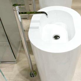 antoniolupi BIKAPPA freestanding, single lever basin mixer chrome