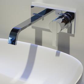 antoniolupi BIKAPPA wall-mounted, single lever basin mixer projection: 190 mm, chrome