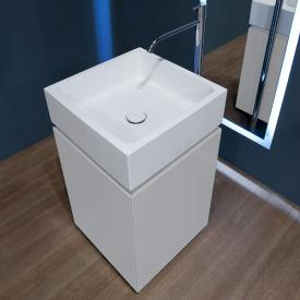 antoniolupi BLOKKO washbasin with freestanding vanity unit with 2 doors front matt white / corpus matt white, washbasin matt white