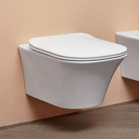 antoniolupi CABO wall-mounted washdown toilet with toilet seat Flat matt white