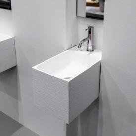 antoniolupi CALCO hand washbasin textured white, with 1 tap hole, without overflow