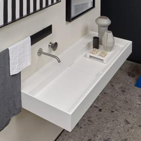 antoniolupi CANALE wall-mounted washbasin matt white, without tap hole, without overflow