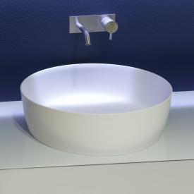 antoniolupi CATINO countertop washbasin matt white, white waste valve