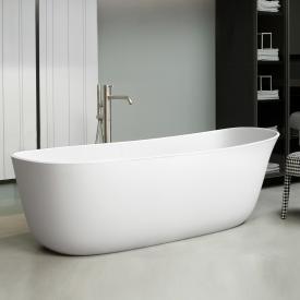 antoniolupi DAFNE freestanding oval bath waste set satin stainless steel