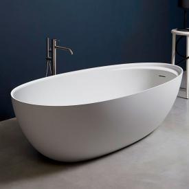 antoniolupi ECLIPSE freestanding oval bath matt white, waste set graphite