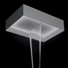 antoniolupi FUORIMETEO overhead shower with waterfall polished stainless steel/white, without lighting