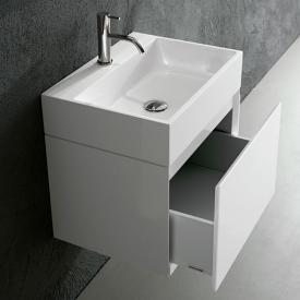 antoniolupi GESTO vanity unit with 1 pull-out compartment front matt white / corpus matt white
