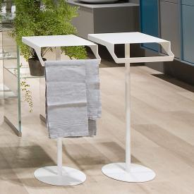 antoniolupi GINO table with towel rail matt white